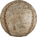 Baseball Collectibles:Balls, 1927 Little World Series Team Signed Baseball With Casey Stengel From First Ever Championship. ...