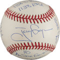 "Autographs:Baseballs, Circa 2000 Tony Gwynn Heavily Notated Single Signed ""Stat""Baseball...."