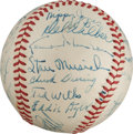 Autographs:Baseballs, 1947 St. Louis Cardinals Team Signed Baseball from The Stan MusialCollection....
