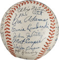 Autographs:Baseballs, 1943 National League All-Star Team Signed Baseball from The StanMusial Collection....
