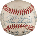 Autographs:Baseballs, 1946 St. Louis Cardinals Team Signed Baseball from The Stan MusialCollection....