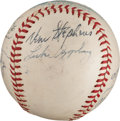 Autographs:Baseballs, Circa 1950 Baseball Banquet Multi-Signed Baseball from The StanMusial Collection....
