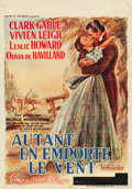 "Movie Posters:Academy Award Winners, Gone with the Wind (MGM, 1939). Pre-War Belgian (14"" X 22"").. ..."