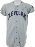 Baseball Collectibles:Uniforms, 1971 Ray Fosse Game Worn Cleveland Indians Jersey - One Year Style. ...