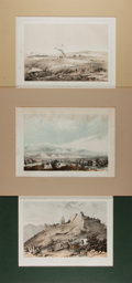 Books:Prints & Leaves, [United States Railroad Expedition]. Lot of Three Tinted Plates.Philadelphia: Sinclair, [n.d.]. Approximately 8 x 11 inches...