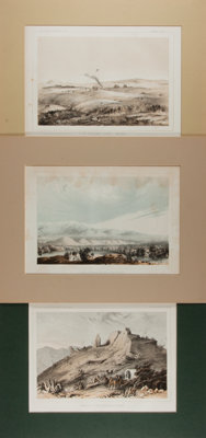 [United States Railroad Expedition]. Lot of Three Tinted Plates. Philadelphia: Sinclair, [n.d.]. Approximately 8 x 11