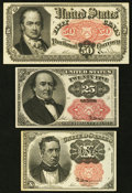 Fractional Currency:Fifth Issue, Meredith, Walker, and Crawford.. ... (Total: 3 notes)