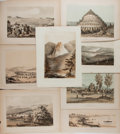 Books:Prints & Leaves, [United States Railroad Expedition]. Lot of Eight Tinted Plates.Philadelphia: Sinclair, [n.d.]. Approximately 8 x 11 inches...