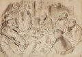 Works on Paper, RONALD WILLIAM FORDHAM SEARLE (British, 1920-2011). The Board Meeting. Pen and ink wash on paper. 9.5 x 13.5 in. (image)...