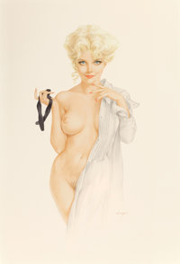 "ALBERTO VARGAS (American, 1896-1982) ""Is This What They Mean by Having a Formal Affair?"", Vargas Girl, Playboy..."