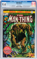 Bronze Age (1970-1979):Horror, Man-Thing #1 (Marvel, 1974) CGC NM 9.4 Off-white pages....
