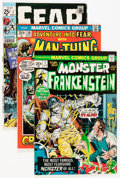 Bronze Age (1970-1979):Horror, Fear/Frankenstein Group (Marvel, 1970-74) Condition: Average FN....(Total: 53 Comic Books)