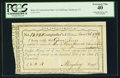 Colonial Notes:Connecticut, Connecticut Interest Certificate March 26, 1792 3 Pound 4 Pence Cut Cancel PCGS Extremely Fine 40.. ...