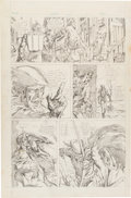 Original Comic Art:Miscellaneous, Rich Buckler Green Arrow and Black Canary Pencil Panel PageOriginal Art (c. 1970s)....
