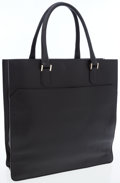 Luxury Accessories:Bags, Valextra Black Leather Tote Bag. ...