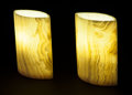 Lapidary Art:Lamps, DECORATIVE MATCHING PAIR ONYX LAMPS. Stone source: Mexico....