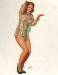 Pin-up and Glamour Art, EARL MORAN (American, 1893-1984). Marilyn Monroe, Brown &Bigelow calendar Illustration, circa 1948. Pastel on board.26...