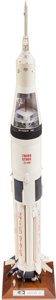 Explorers:Space Exploration, Saturn IB Marshall Space Flight Center Launch Vehicle Model onBase. ...