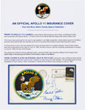 "Explorers:Space Exploration, Apollo 11 Crew-Signed ""Type Three"" Insurance Cover Originally fromthe Personal Collection of Mission Lunar Module Pilot Buzz ..."