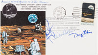 Apollo 11 Flown Crew-Signed Commemorative Cover, C-54, Directly from the Personal Collection of Mission Command Module P...