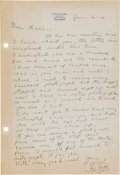 Autographs:Letters, 1936 Ty Cobb Handwritten Signed Letter with Baseball Content....