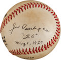 Autographs:Baseballs, Circa 1980 Joe Oeschger Single Signed Baseball....