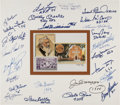 Baseball Collectibles:Photos, 1988 Baseball Greats Multi Signed Display. ...