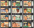 Baseball Cards:Lots, 1956 Topps Baseball SGC 96 Mint 9 Collection (19) - All Low PopWith None Higher. ...