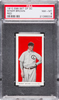 "Baseball Cards:Singles (Pre-1930), 1910 E98 ""Set of 30"" Mordecai Brown PSA NM-MT 8 - Highest PSAKnown! ..."