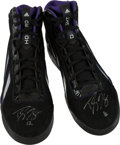 Basketball Collectibles:Others, 2012-13 Dwight Howard Game Worn Signed Shoes. ...