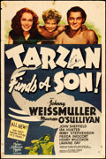 "Movie Posters:Adventure, Tarzan Finds a Son (MGM, 1939). Autographed One Sheet (27"" X 41"")Style D. Adventure.. ..."