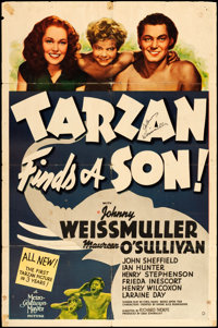 "Tarzan Finds a Son (MGM, 1939). Autographed One Sheet (27"" X 41"") Style D. Adventure"