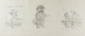 Books:Prints & Leaves, Garth Williams. SIGNED. Three Original Pencil Preliminary Sketches for Mister Dog: The Dog Who Belonged to Himself...