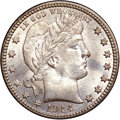 Barber Quarters, 1914-D 25C MS67 NGC....