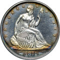 Proof Seated Half Dollars, 1874 50C Arrows PR64 Cameo NGC. CAC....