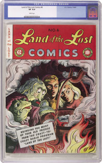 Land of the Lost #6 (EC, 1947) CGC VF 8.0 White pages. Wonderful, colorful cover is by children's book illustrator Olive...
