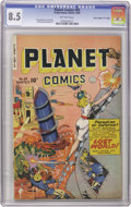 "Golden Age (1938-1955):Science Fiction, Planet Comics #63 Davis Crippen (""D"" Copy) pedigree (Fiction House,1949) CGC VF+ 8.5 Off-white pages. Following up this iss..."
