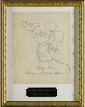 Original Comic Art:Sketches, Les Clark - Earliest Known Mickey Mouse Advertising Drawing Original Art, Group of 2 (Walt Disney Studio, 1929). These iconi... (Total: 2 Items)