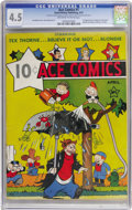 Platinum Age (1897-1937):Miscellaneous, Ace Comics #1 (David McKay Publications, 1937) CGC VG+ 4.5Off-white to white pages. Four beloved features made their veryf...