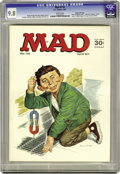 """Magazines:Mad, Mad #110 Gaines File Copy (EC, 1967) CGC NM/MT 9.8 White pages. """"Yellow Pages for Super-Heroes"""" article. Norman Mingo cover...."""