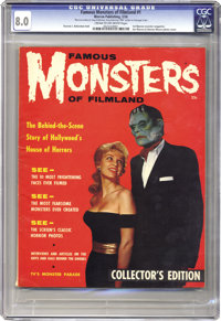 Famous Monsters of Filmland #1 (Warren, 1958) CGC VF 8.0 Cream to off-white pages. When this first Warren monster magazi...