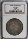 German States:Bavaria, German States: Bavaria. Ludwig II 5 Mark 1876D, KM502, XF45 NGC.Well struck with minor rim bumps....