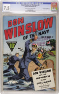 Golden Age (1938-1955):War, Don Winslow of the Navy #2 Crowley Copy/File Copy (Fawcett, 1943)CGC VF- 7.5 Cream to off-white pages. World War II cover. ...