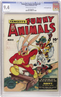"Golden Age (1938-1955):Funny Animal, Fawcett's Funny Animals #27 Crowley Copy/File Copy (Fawcett, 1945)CGC NM 9.4 Cream to off-white pages. Has a ""checking copy..."