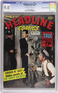 Golden Age (1938-1955):Crime, Headline Comics #42 Mile High pedigree (Prize, 1950) CGC VF/NM 9.0 Off-white to white pages. Photo cover. Overstreet 2006 VF...