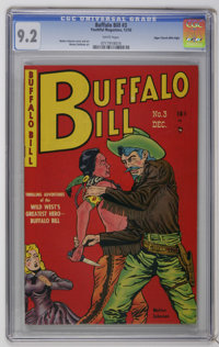 Buffalo Bill #3 Mile High pedigree (Youthful Magazines, 1950) CGC NM- 9.2 White pages. Walter Johnson cover and art. Thi...