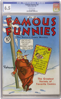 Famous Funnies #67 (Eastern Color, 1940) CGC FN+ 6.5 Off-white pages. Uncle Elby cover appearance. Overstreet 2006 FN 6...