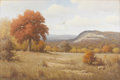 Texas:Early Texas Art - Impressionists, DON WARREN (1935-2006). Untitled Landscape. Oil on canvas. 24in. x36in.. Signed lower left. Don Warren knew both Porfirio...