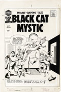 Original Comic Art:Covers, Jack Kirby - Black Cat Mystic #59 Cover Original Art (Harvey,1957). Jack Kirby's contributions to the comic book industry a...