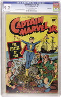 Golden Age (1938-1955):Superhero, Captain Marvel Jr. #67 Crowley Copy pedigree (Fawcett, 1948) CGC NM- 9.2 Cream to off-white pages. The war was long over, so...